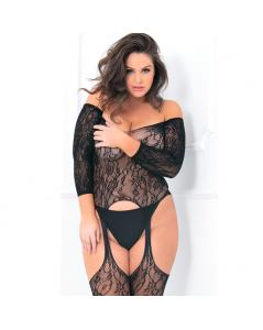 SEDUCTIVE CROTCHLESS BODY CON LIGUEROS PLUS