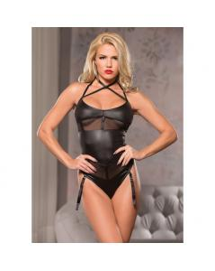 CRS NECK MESH TEDDY NEGRO
