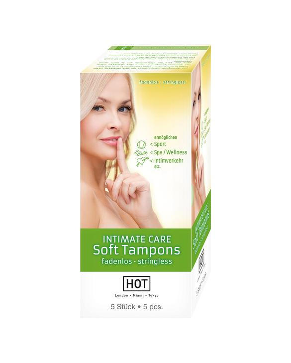 HOT INTIMATE CARE TAMPONES SUAVES 5 UDS