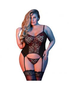 MERRY WIDOW G BODY CON CORREA DE LIGA NEGRO